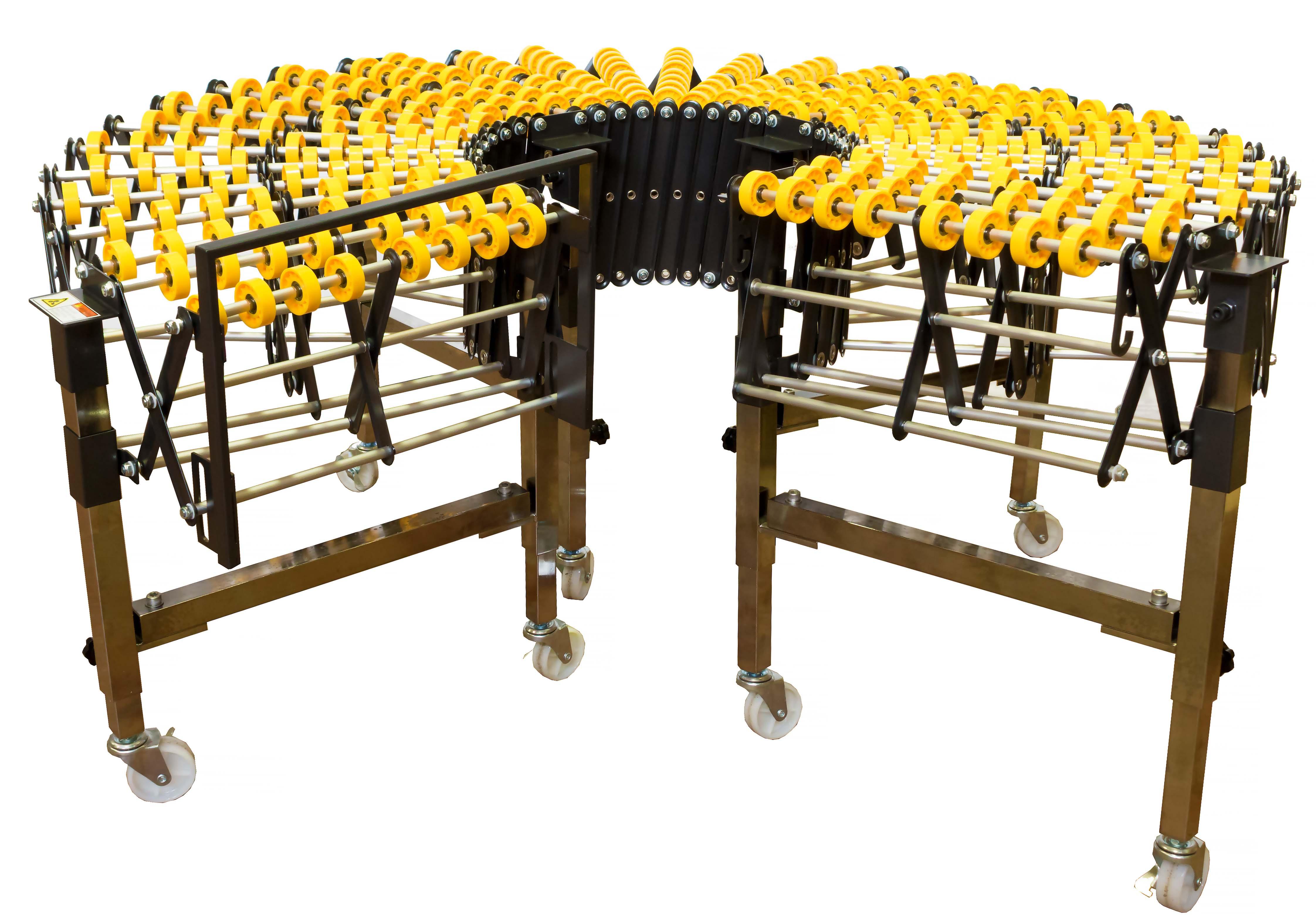 Растяжимый роликовый конвейер